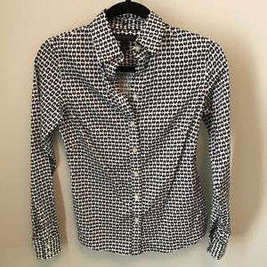Banana Republic Blouse Non-Iron Button Front SZ 0